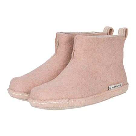 High Boots Filzschuhe Dusty Rosa