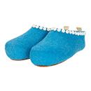 Damen-Filzschuhe Felt Button Blau