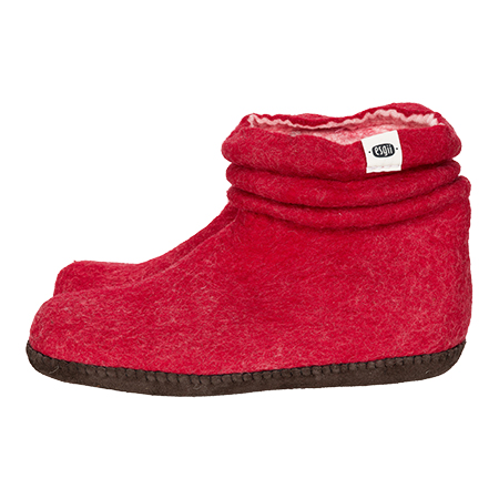 esgii dames sloffen Wrinkle red