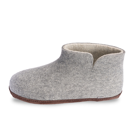 Herren-Filzschuhe Grey Mule Seitenaufteilung