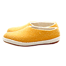 Vilten damesslof Plain yellow