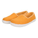 Vilten damesslof Feston yellow