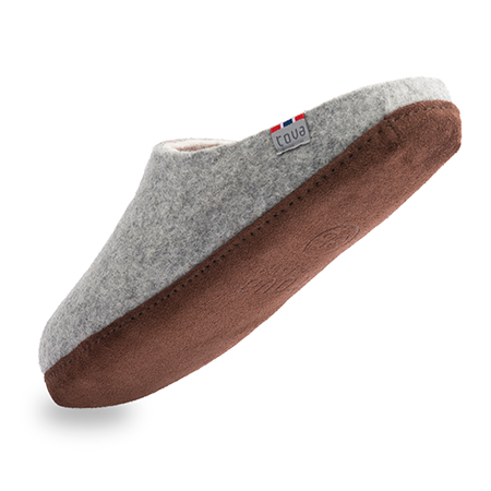 Vilten herenslof Slipper Grey