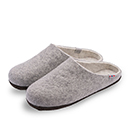 Vilten damesslof Slipper Grey