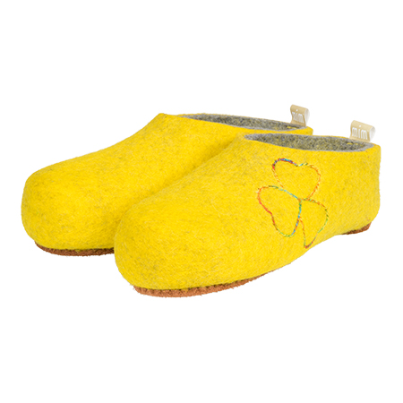 Vilten damesslof Stitch Yellow