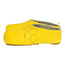 Damen-Filzschuhe Stitch Gelb