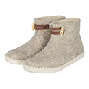 Vilten damesslof High Boots light grey