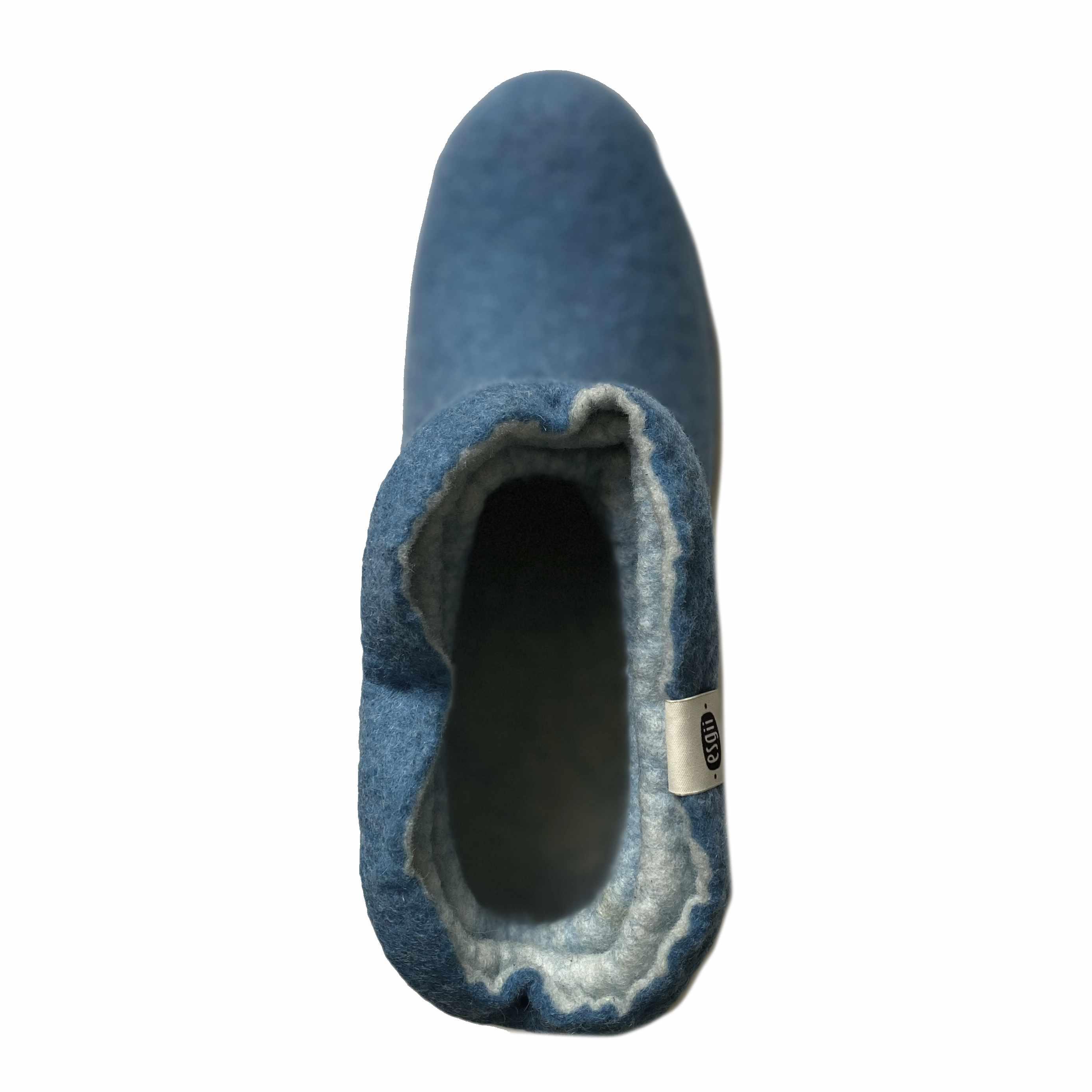 esgii dames sloffen Wrinkle blue