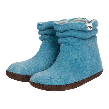 Damen-Filzschuhe Wrinkle Blau