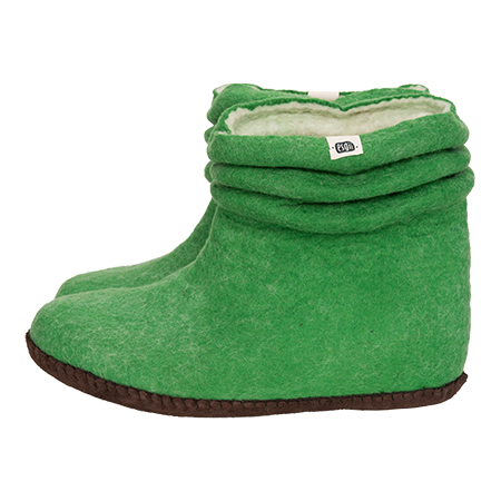 esgii dames sloffen Wrinkle Green