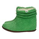 Damen-Filzschuhe Wrinkle Grün