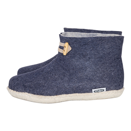 Vilten damesslof High Boots navy blue