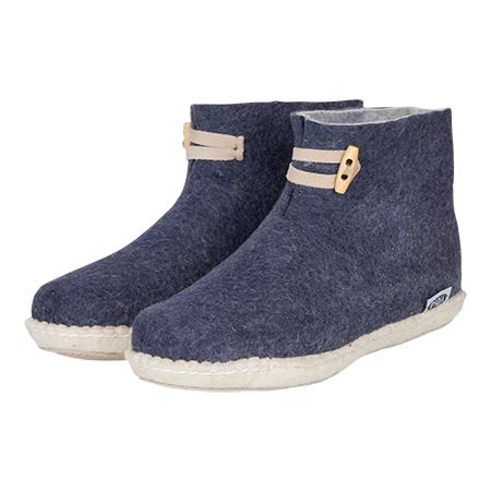 Damen-Filzschuhe High Boots Dunkelblau