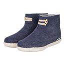 Vilten damesslof High Boots navy blue