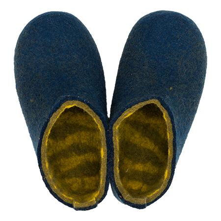 Damen-Filzschuhe Stripe Inside Blau