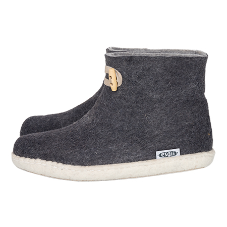 Vilten damesslof High Boots grey