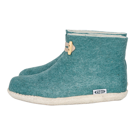 Damen-Filzschuhe High Boots MeerGrün