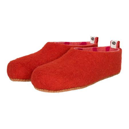 Damen-Filzschuhe Stripe Inside Rot