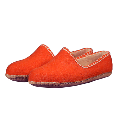 Damen-Filzschuhe Feston Orange