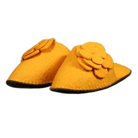 Damen-filzschuh Blume Gelb