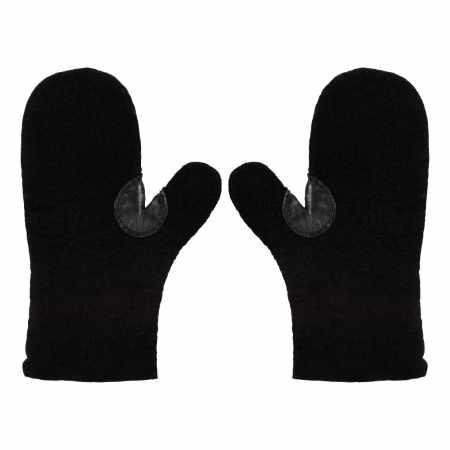 Filz-Handschuhe Schwarz