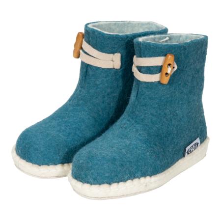 Vilten kinderslof Boots Seagreen