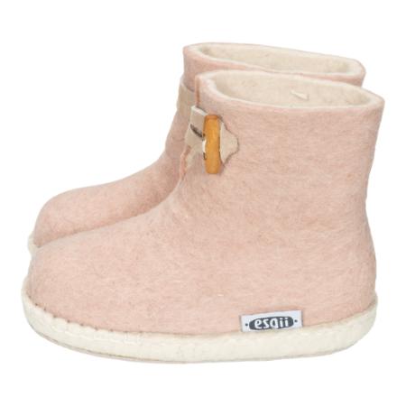Kinder-Filzschuhe Boots Rosa