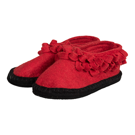 Vilten kinderslof Flower Red