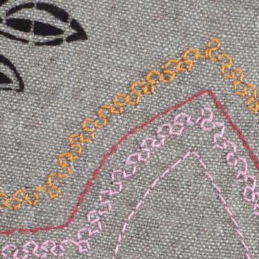 Kussenhoes Flock Embroidery ecru