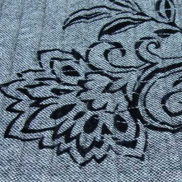 Kussenhoes Flock Embroidery grey