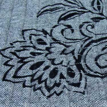 Kussenhoes Flock Felt grey