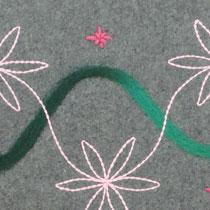 Kussenhoes Wave green