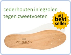 bestseller nummer 1 cederhouten inlegzolen tegen zweetvoeten