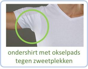 ondershirts met ingenaaide okselpads tegen zweetplekken