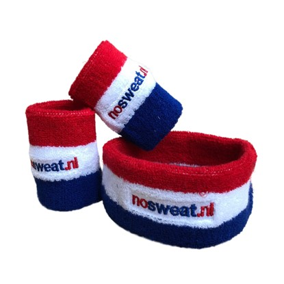 No Sweat zweetbandjes: 1x hoofdband en 2x polsbandjes