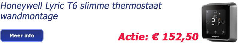 Honeywell Lyric T6 slimme thermostaat wandmontage