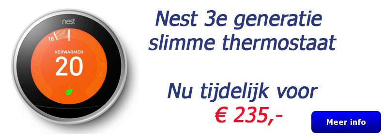 Nest Slimme thermostaat 3e generatie