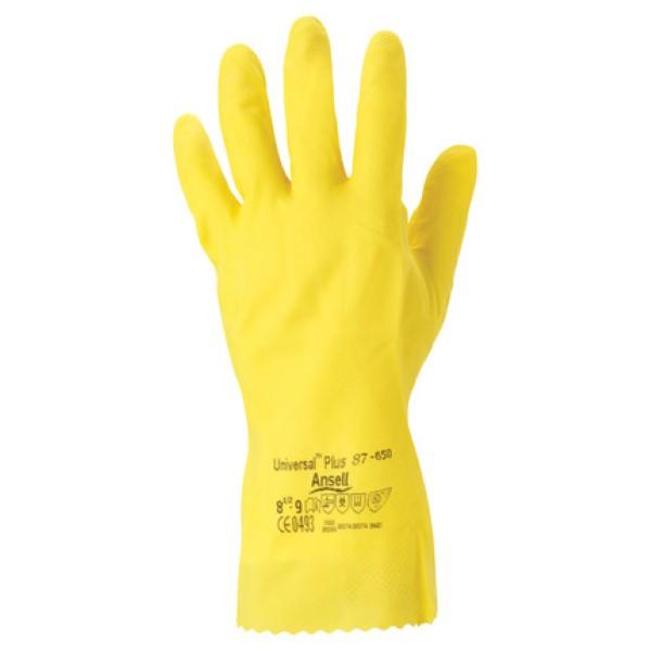 Ansell handschoen universal geel maat L