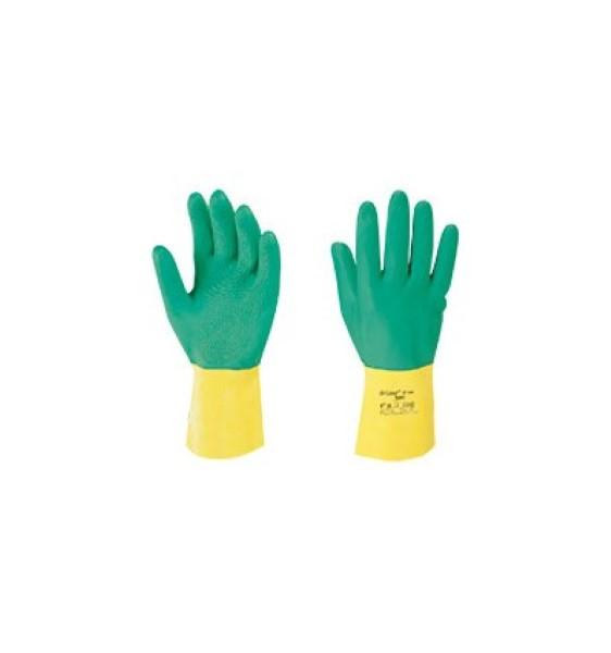 Ansell handschoen geel/groen maat m