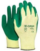 Werkhandschoen M-grip groen latex palm Maat
