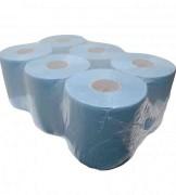 Midi rol blauw verlijms 20cmx150m. 2-laags verpakking van 6 rol