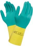 Heavyweight handschoen groen/geel M