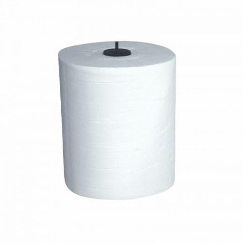 Handdoekpapier op rol Mammoet Matic plus wit 2-laags. 150mx21cm. 6 rollen.