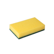 Schuurspons geel/groen vlies (10st)