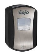 Gojo LTX zeepdispenser 700ml. No-touch chroom/zwart
