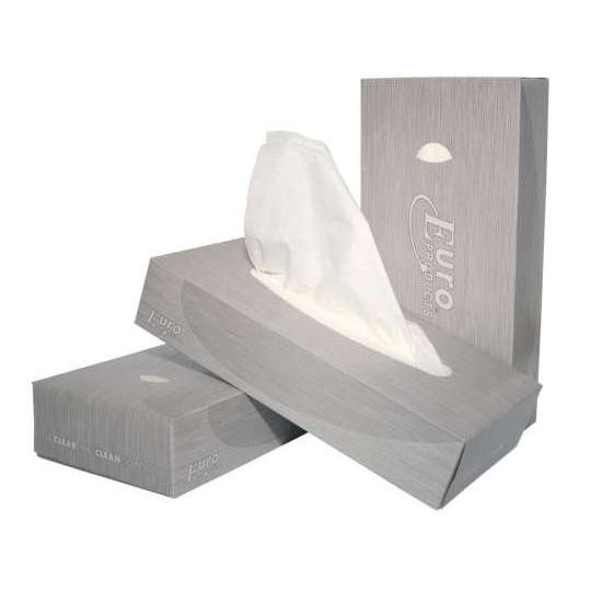 Facial tissues, 21x21cm. 2-laags, 40 doosjes van 100 doekjes