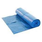 Vuilniszak 70x110cm. blauw 25my rol 20st.