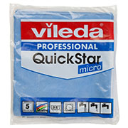 Vileda Professional QuickStar Micro blauw (5 pack)