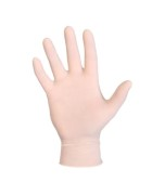 Latex handschoenen licht gepoederd wit 10x100st. Maten S t/m XL