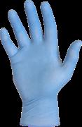 Latex handschoenen ongepoederd blauw 10x100st. s t/m xl